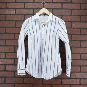 ANN TAYLOR Striped Long Sleeve Button Down Size 00